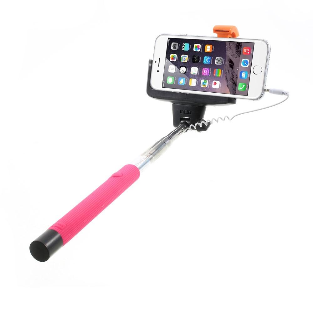Image of   Selfie-stick justerbar m. Udløser - Pink