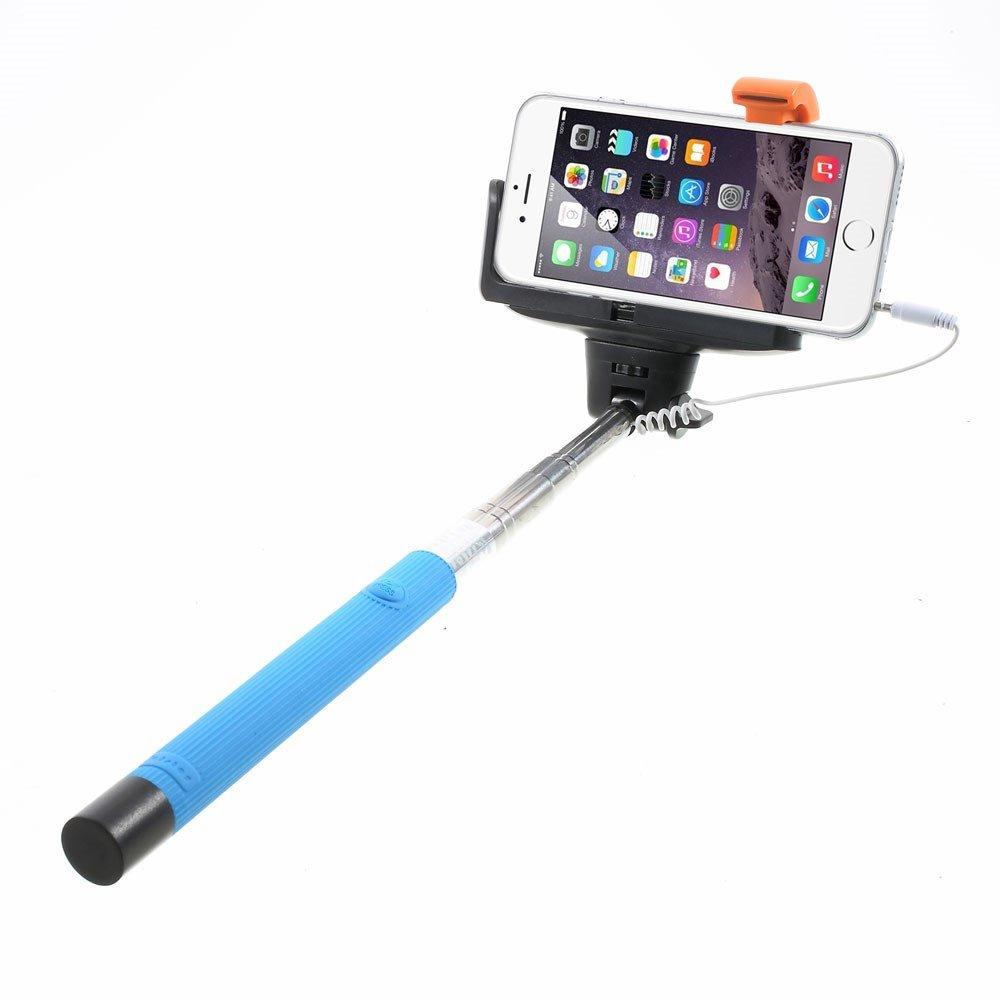 Image of   Selfie-stick justerbar m. Udløser - Blå