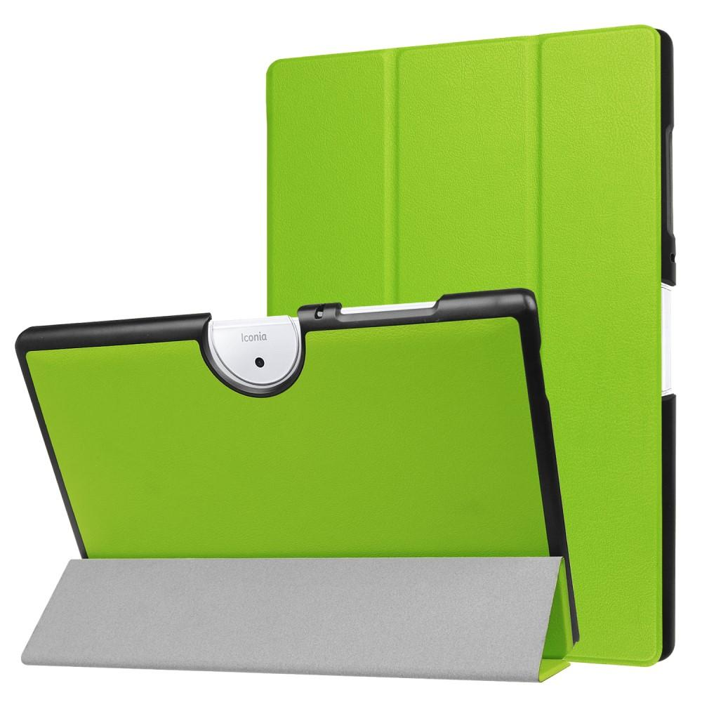 Image of   Acer Iconia One 10 B3-A40 Cover - Tri-fold Læder Cover m. Ståfunktion - Grøn