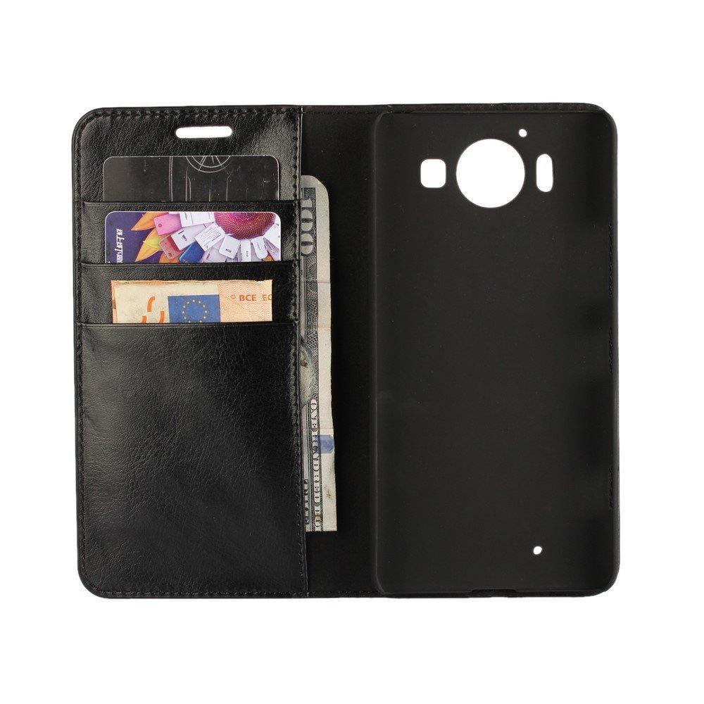 Billede af Microsoft Lumia 950 inCover Premium Flip Cover m. Stand - Sort