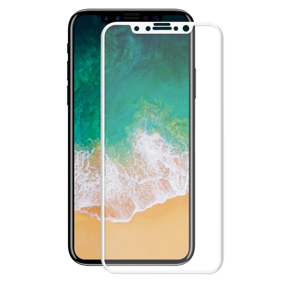 Image of Apple iPhone X HAT PRINCE Full-size Hærdet Glas Skærmbeskyttelse - Hvid