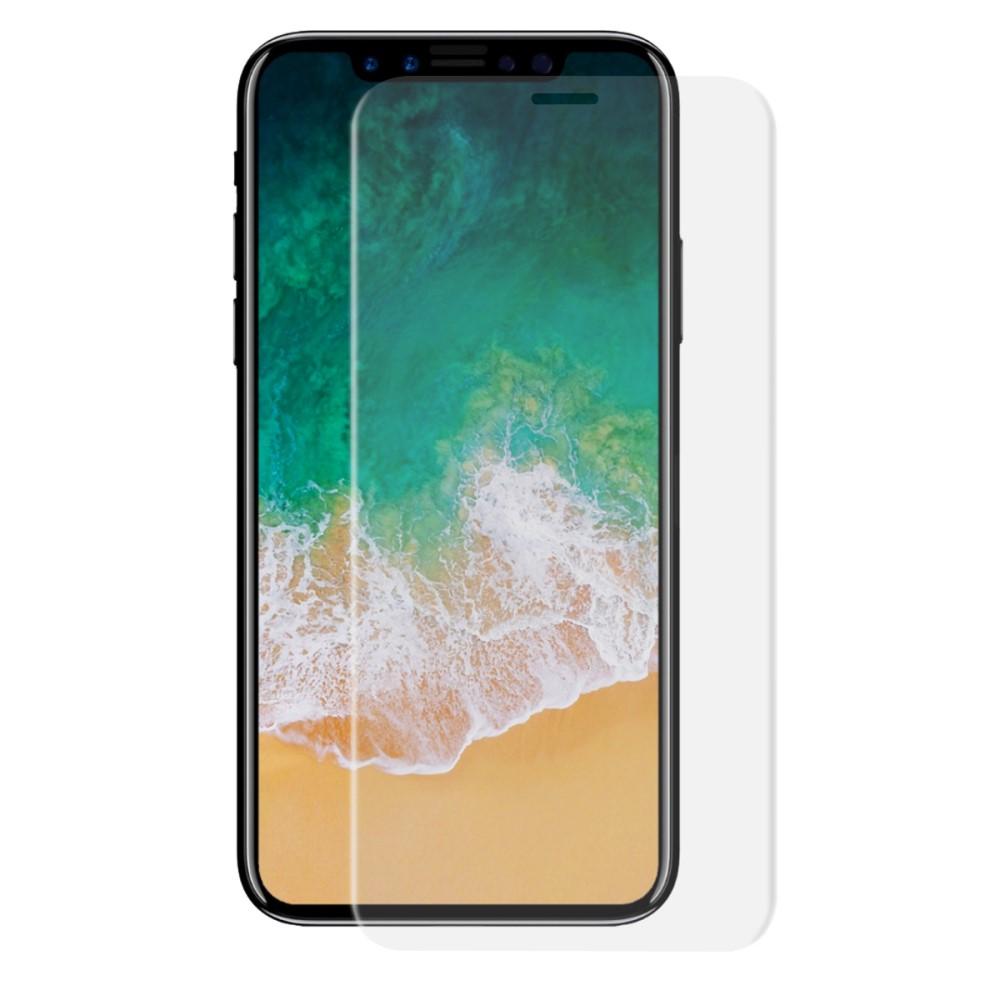 Image of   Apple iPhone X/XS HAT PRINCE Full-size Hærdet Glas Skærmbeskyttelse - Gennemsigtig