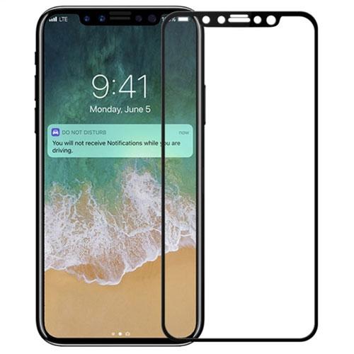 Image of   Apple iPhone X/XS MOCOLO Full-size Hærdet Glas Skærmbeskyttelse - Sort