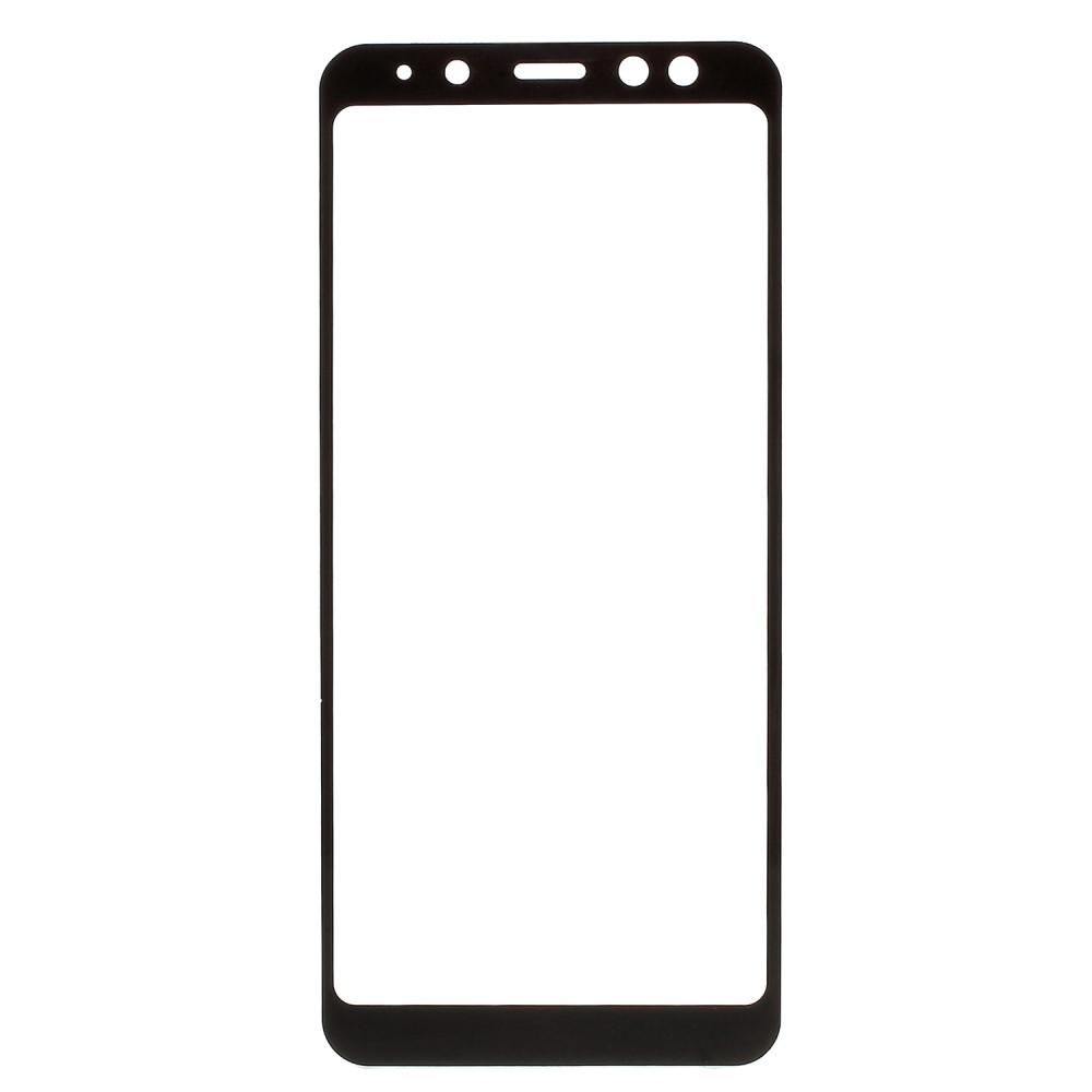 Image of Samsung Galaxy A8 (2018) Silk Print Full-Size Hærdet Glas - Sort