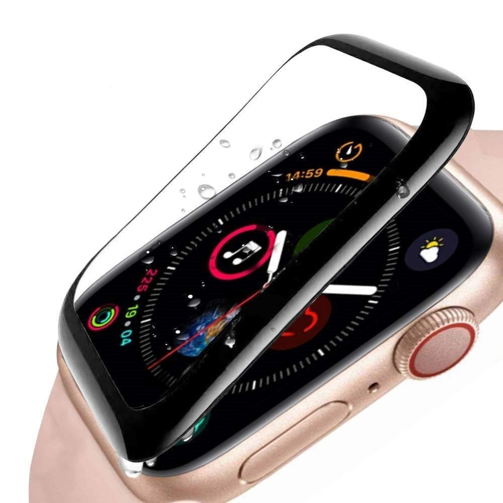 Image of   Apple Watch Panserglas Series 4 (40mm) - Full-Fit Skærmbeskyttelse - Sort Kant