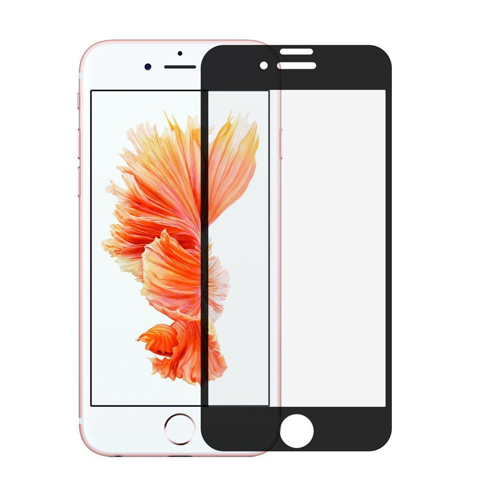 Image of   Apple iPhone 7/8 Plus Silk Print Full-Size Hærdet Glas - Sort