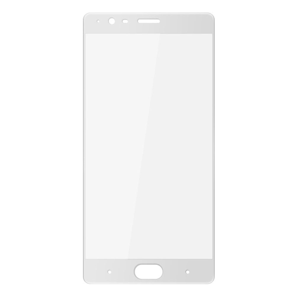 OnePlus 3/3T PanserPro Full-Size Hærdet Glas - Hvid
