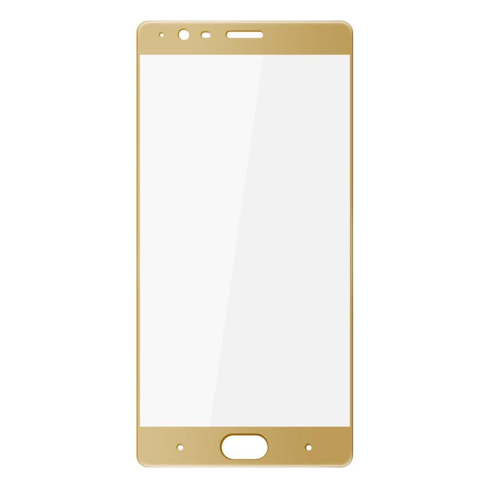 OnePlus 3/3T PanserPro Full-Size Hærdet Glas - Guld