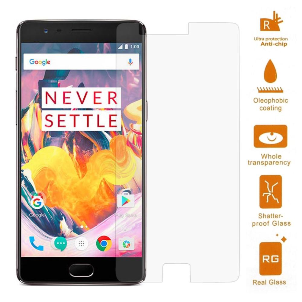 OnePlus 3T PanserPro Hærdet Glas Skærmbeskyttelse (afgrænset)