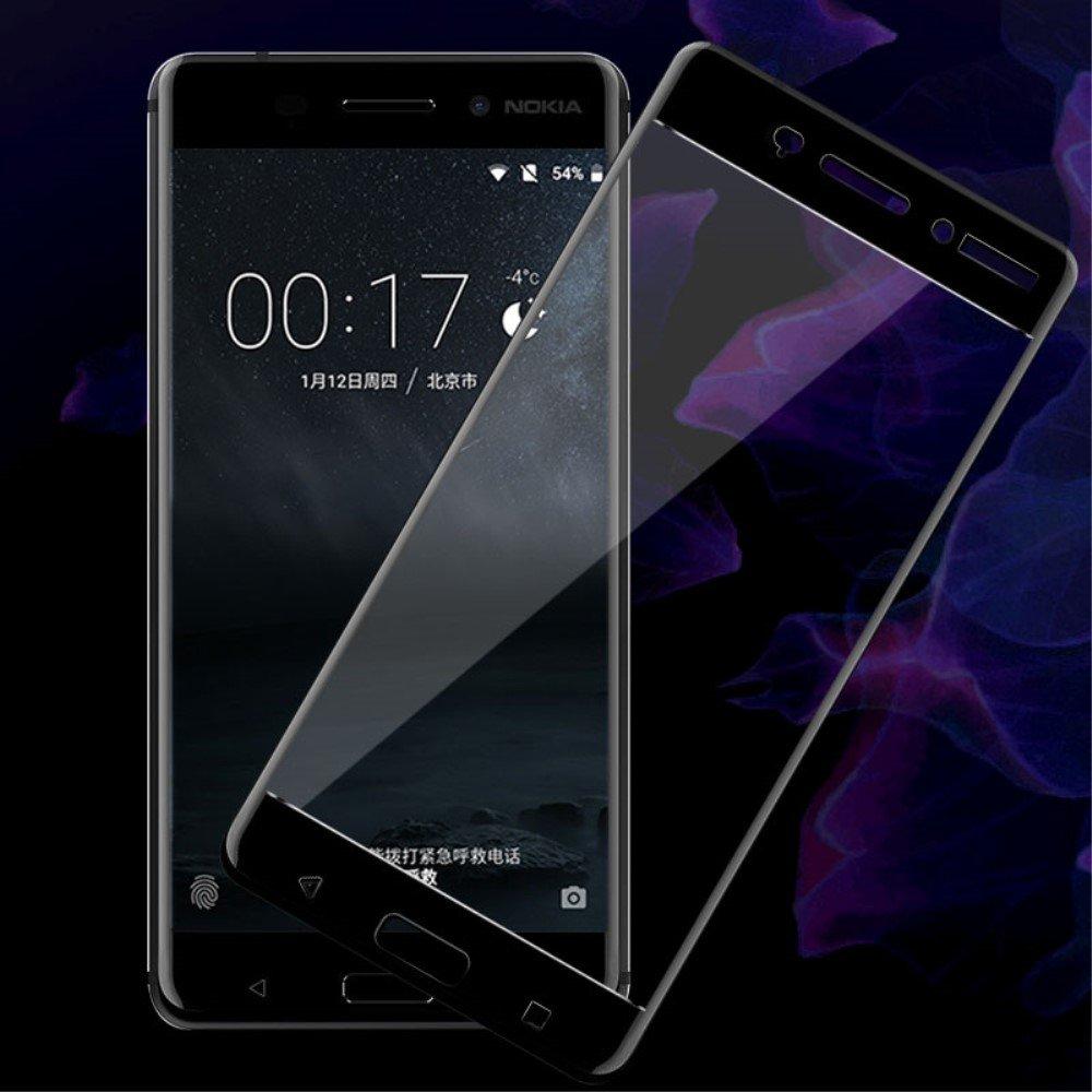 Image of Nokia 6 IMAK Full-Size Hærdet Glas - Sort