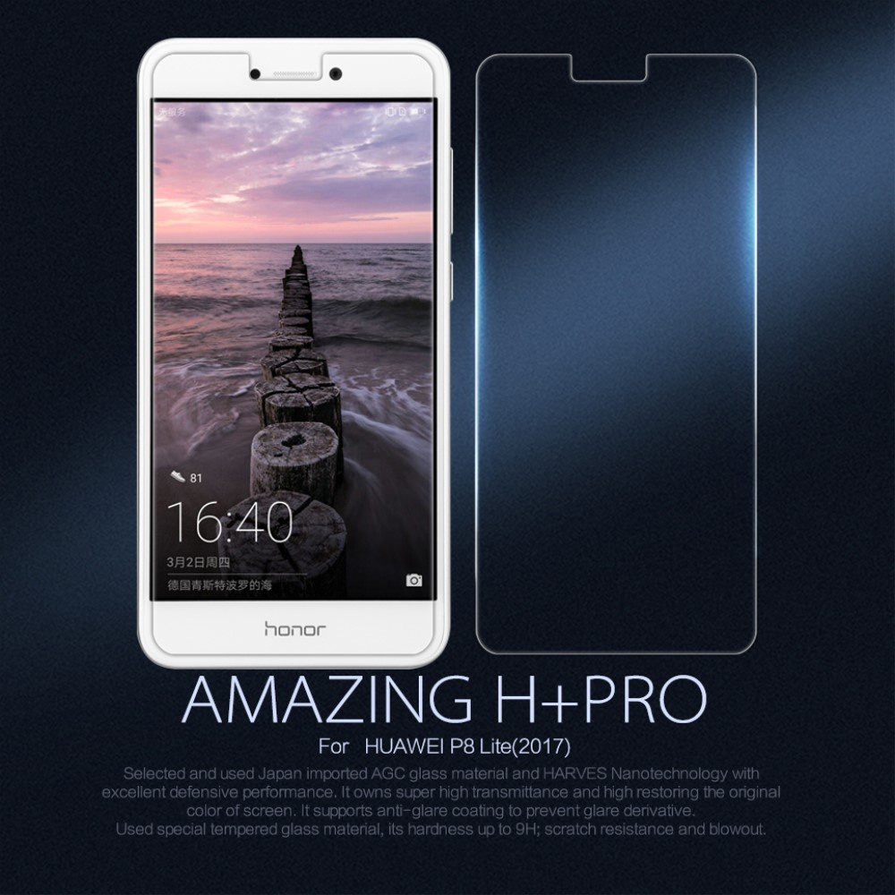 Image of   Huawei Honor 8 Lite NILLKIN Amazing H Anti-explosion Hærdet Glas