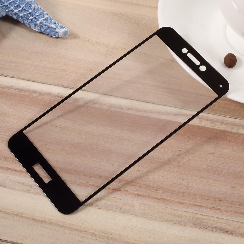 Huawei P10 PanserPro Full-Size Hærdet Glas - Sort