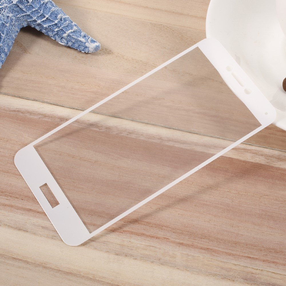 Huawei P10 PanserPro Full-Size Hærdet Glas - Hvid