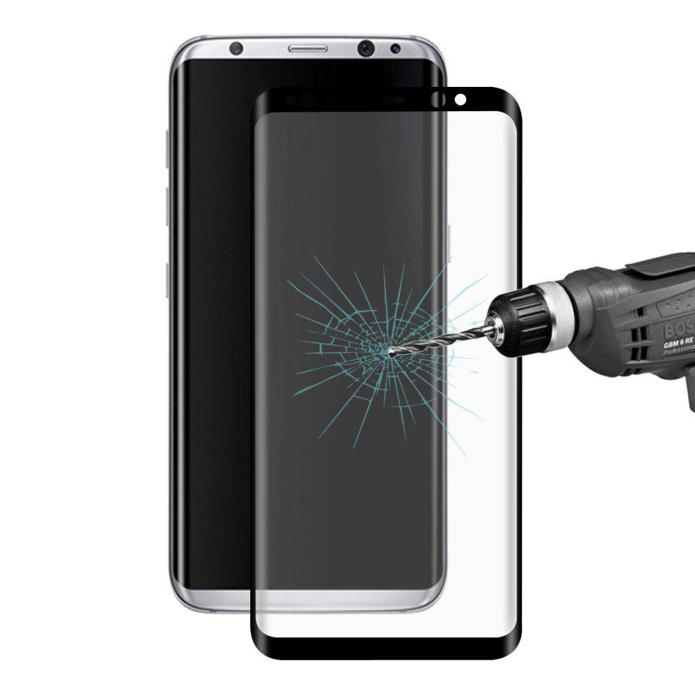 Image of Samsung Galaxy S8 Plus HAT PRINCE Full-size Hærdet Glas Skærmbeskyttelse - Sort