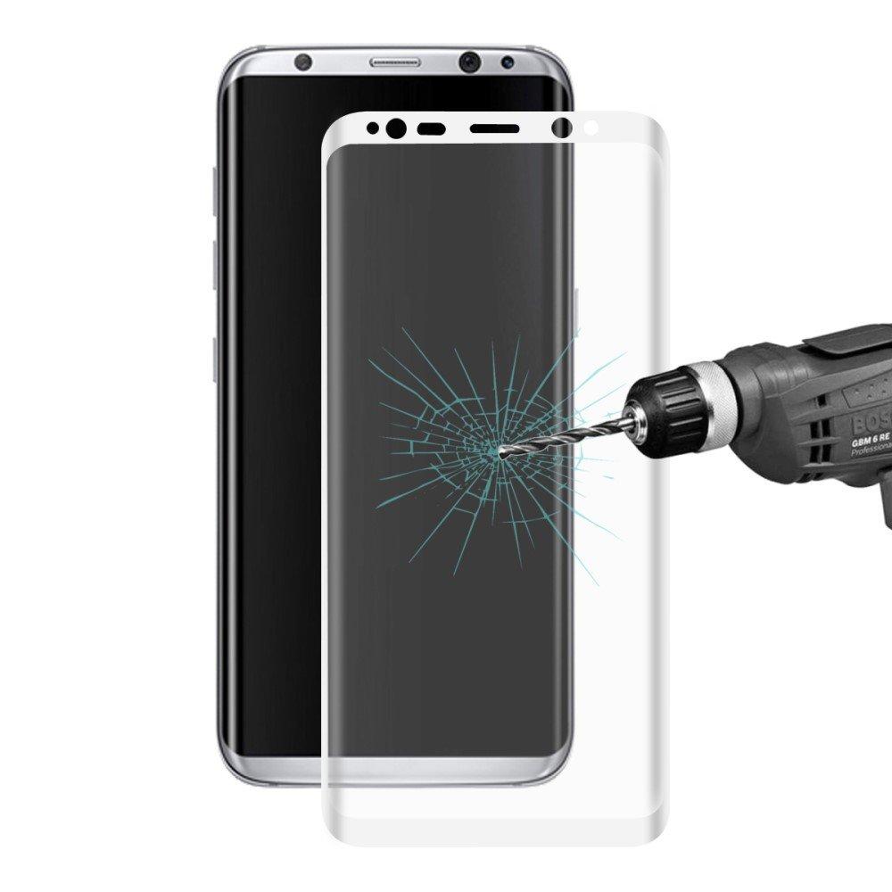 Image of Samsung Galaxy S8 Plus HAT PRINCE Full-size Hærdet Glas Skærmbeskyttelse - Hvid