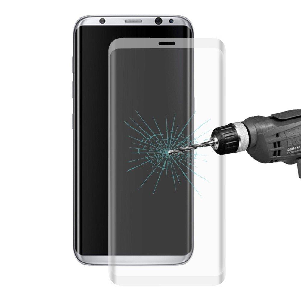 Image of Samsung Galaxy S8 Plus HAT PRINCE Full-size Hærdet Glas Skærmbeskyttelse - Grå