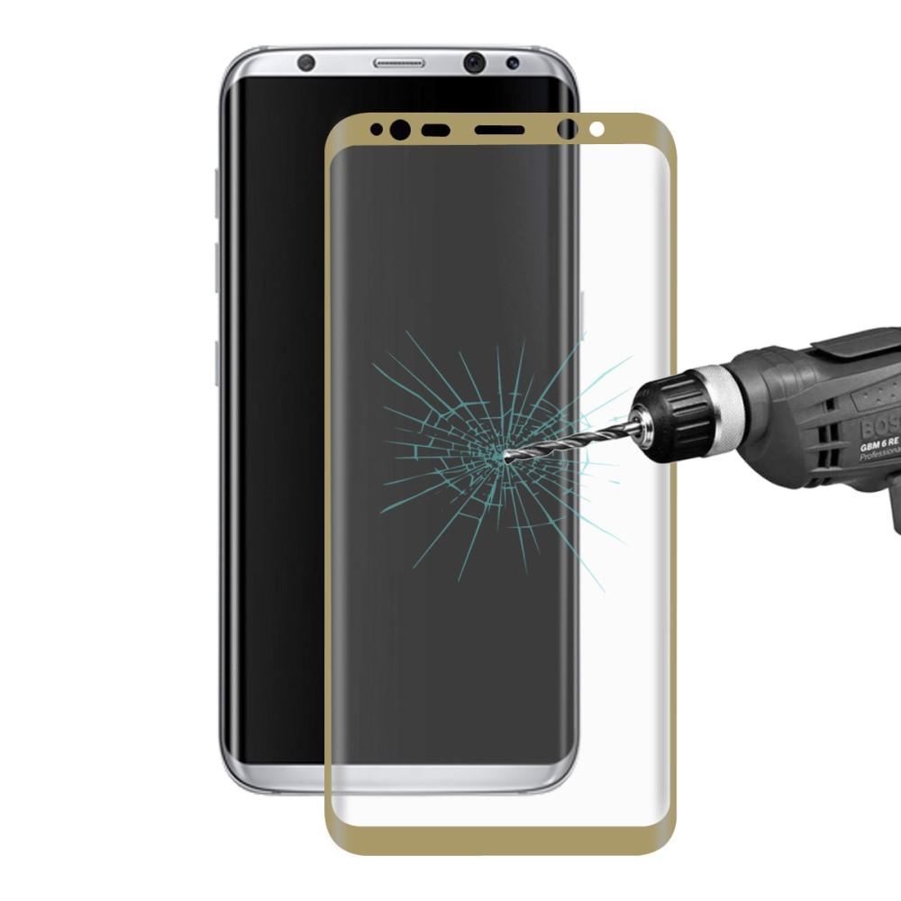Image of Samsung Galaxy S8 Plus HAT PRINCE Full-size Hærdet Glas Skærmbeskyttelse - Guld