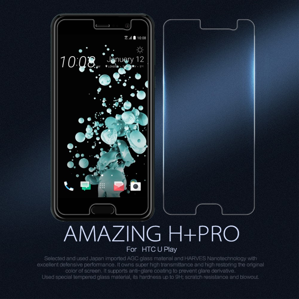 Image of HTC U Play NILLKIN Amazing H Anti-explosion Hærdet Glas