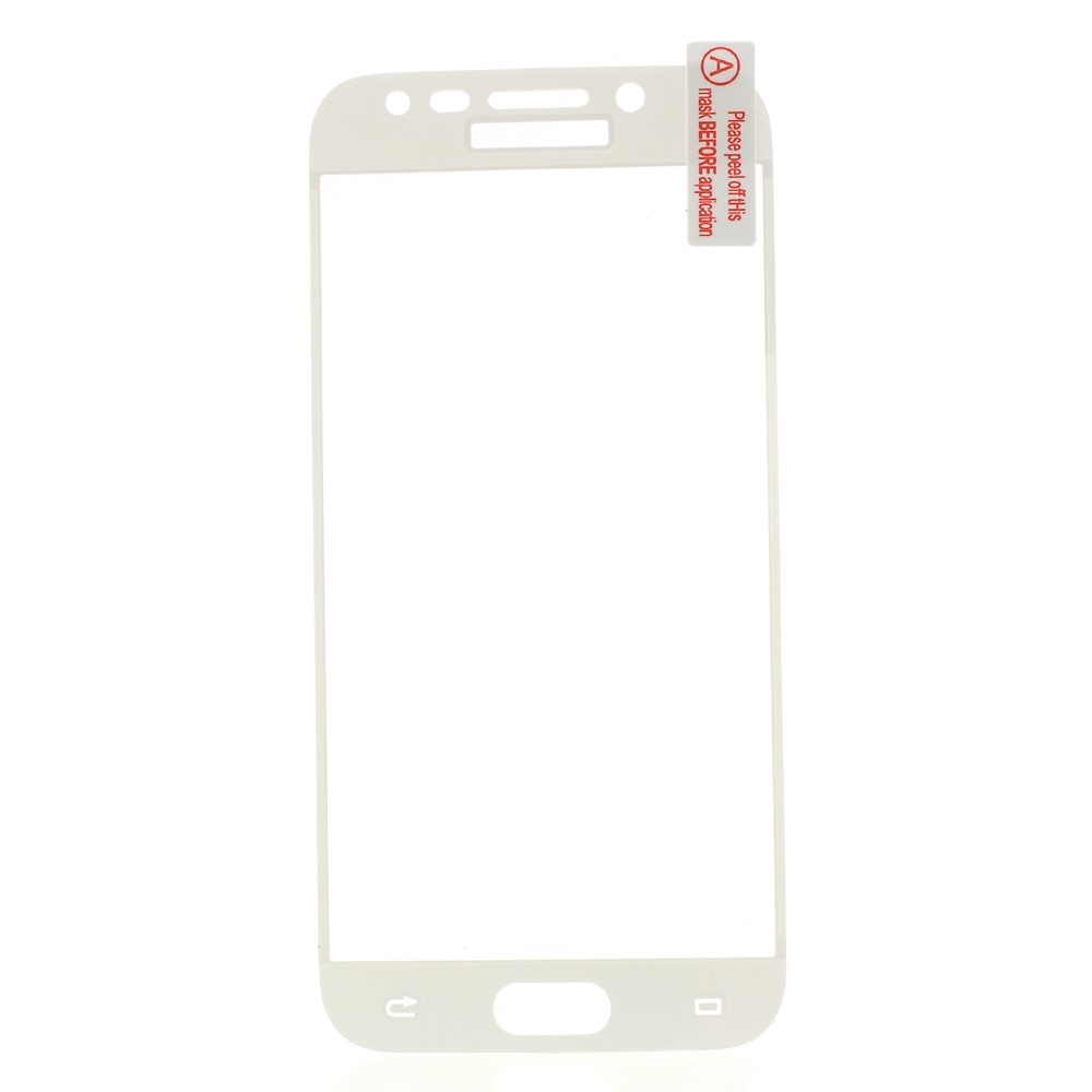 Samsung Galaxy J5 (2017) Full-size Panser Pro Hærdet Glas Skærmbeskyttelse - Hvid