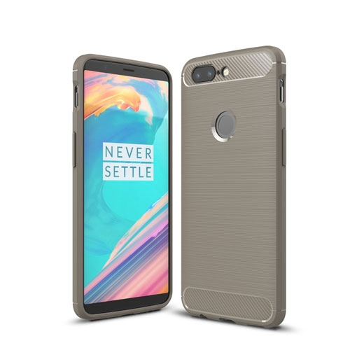 OnePlus 5T inCover Brushed TPU Cover - Grå
