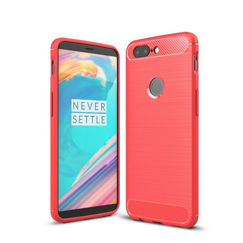 OnePlus 5T inCover Brushed TPU Cover - Rød