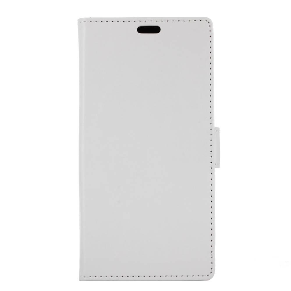 OnePlus 5T Pu læder Flipcover m. Kortholder - Hvid