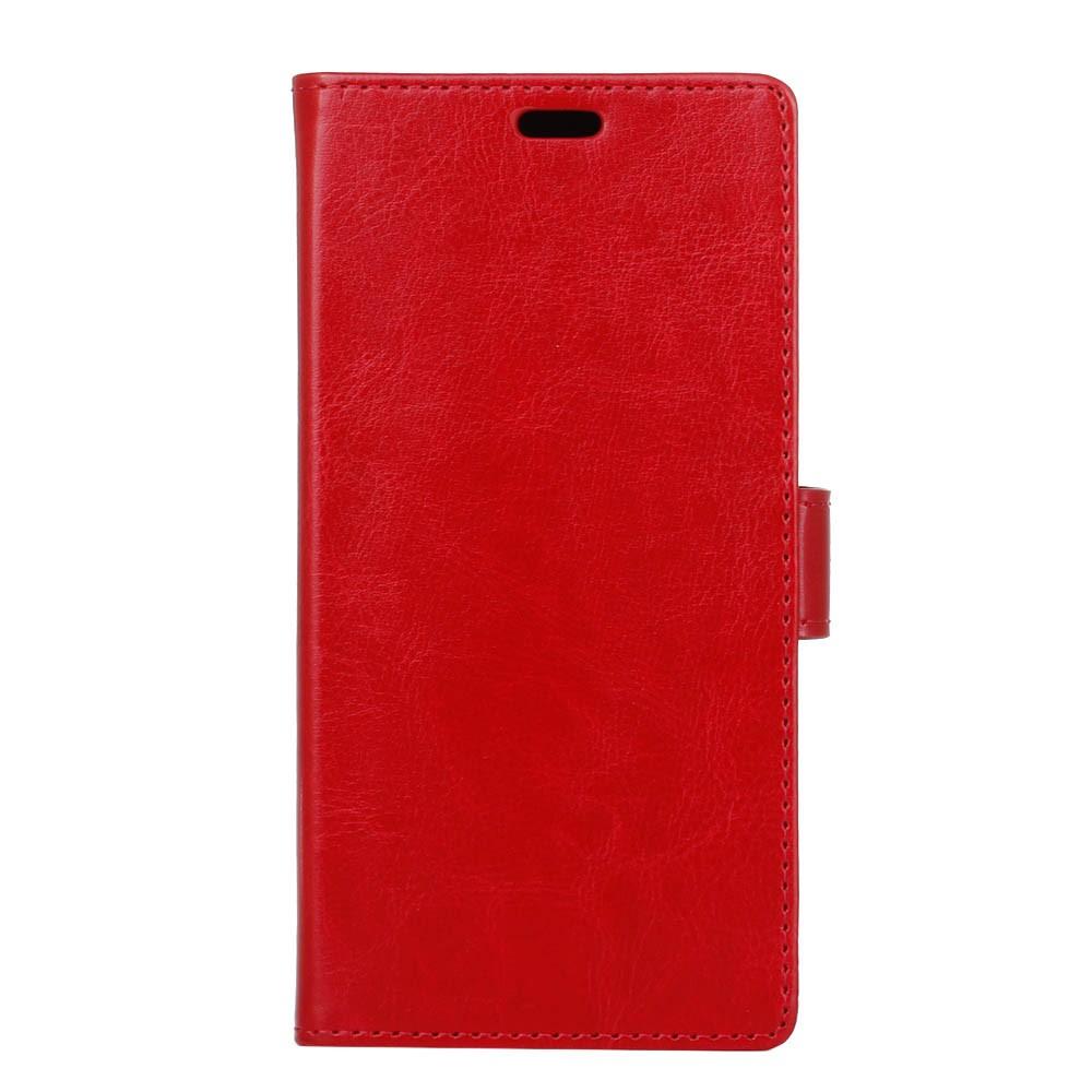 OnePlus 5T Pu læder Flipcover m. Kortholder - Rød