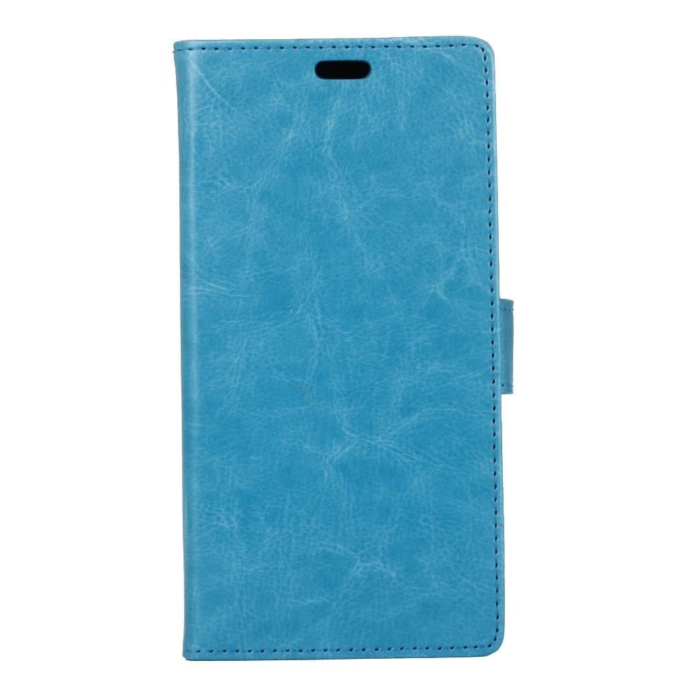 OnePlus 5T Pu læder Flipcover m. Kortholder - Blå