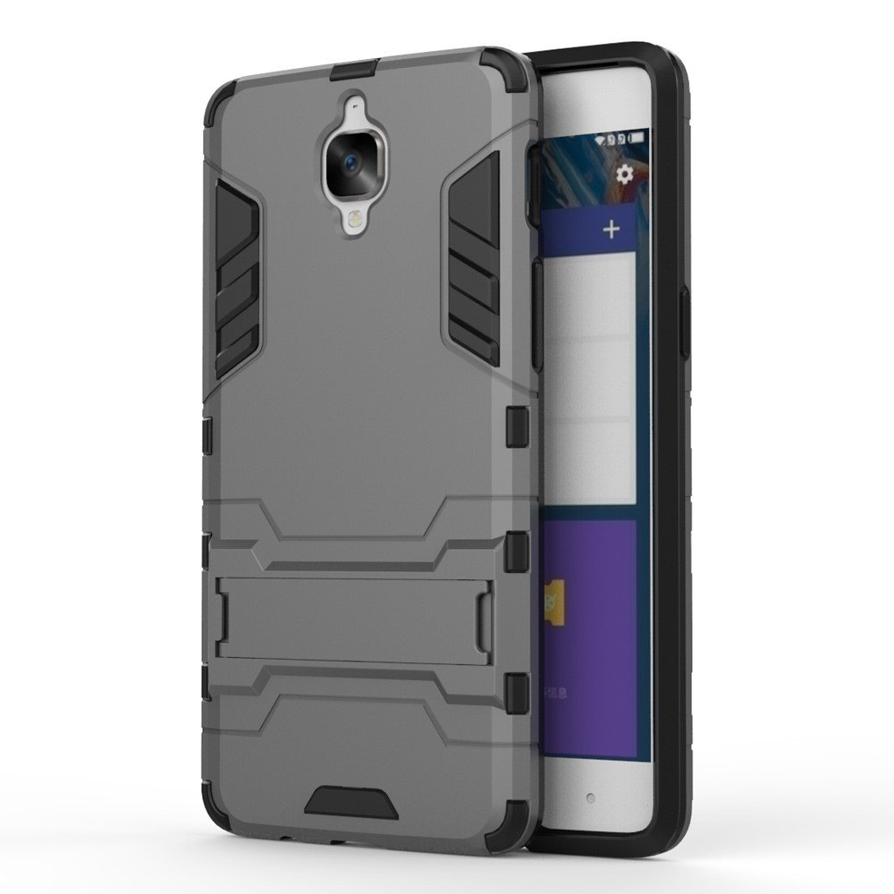 OnePlus 3/3T InCover TPU Hybrid Cover - Grå