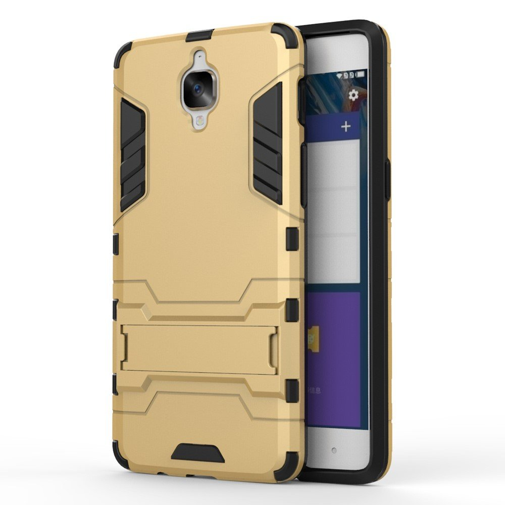 OnePlus 3/3T InCover TPU Hybrid Cover - Guld