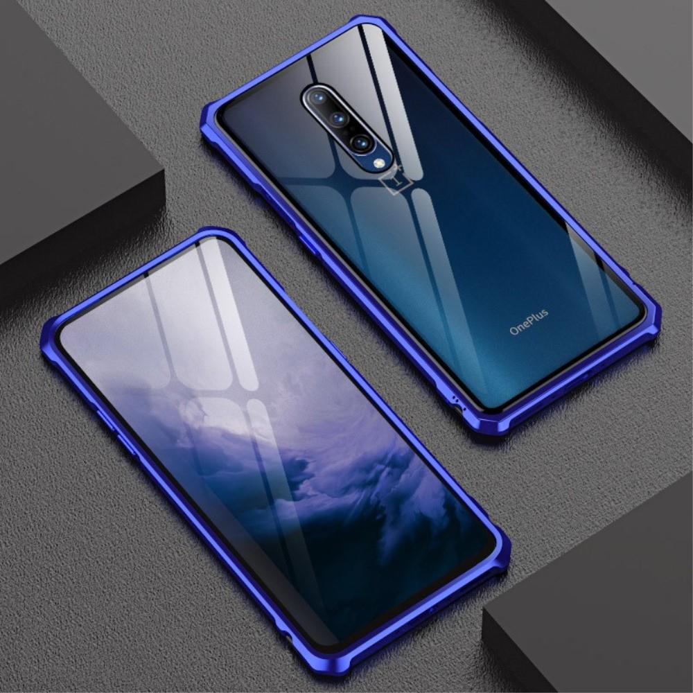 Image of   OnePlus 7 Pro Magnetisk Metalramme m. Glas Bagside - Blå