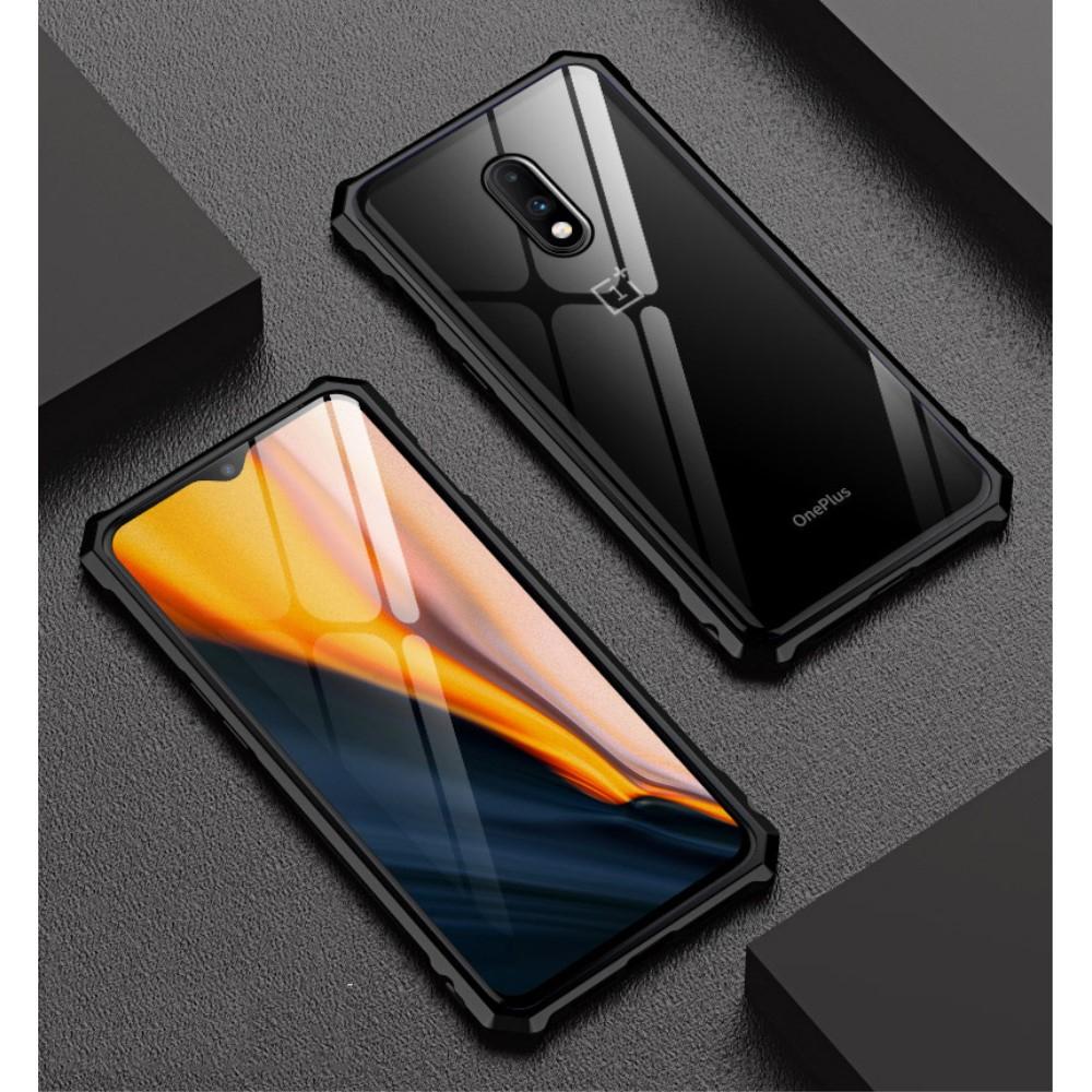 Image of   OnePlus 7 Metalramme m. Glas Bagside - Sort