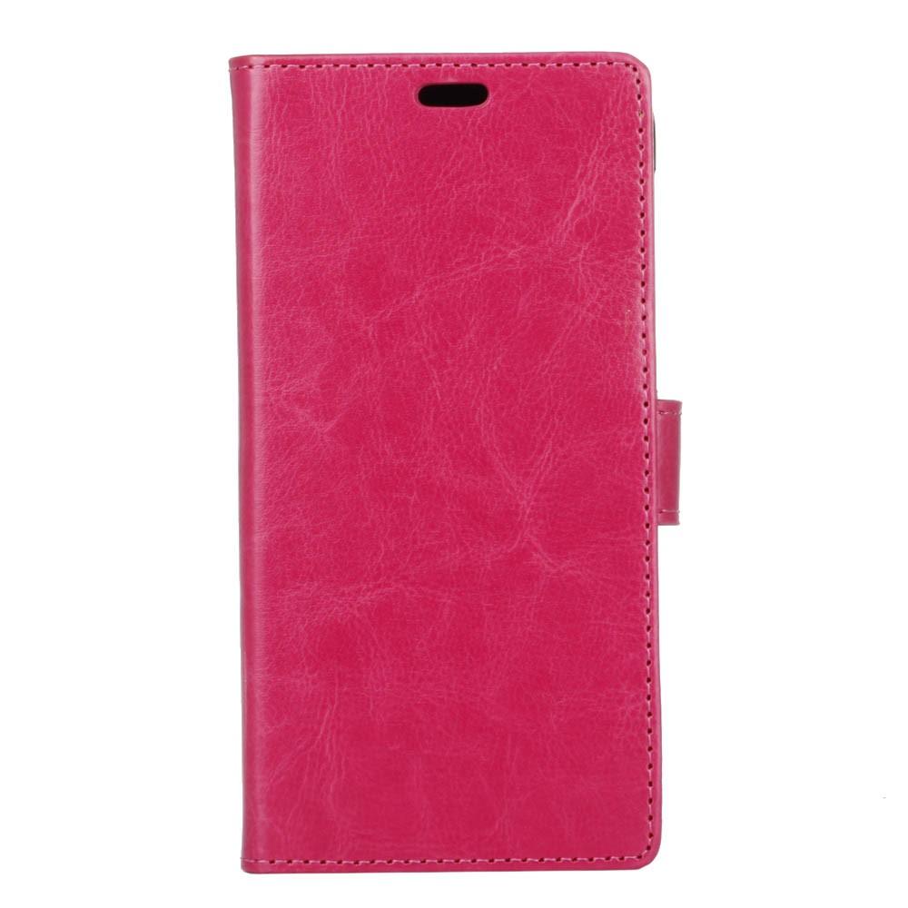 OnePlus 5 PU læder Flipcover m. Kortholder - Pink