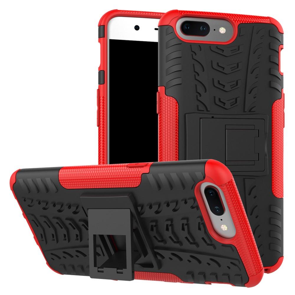 Image of   OnePlus 5 TPU Hybrid Cover - Rød