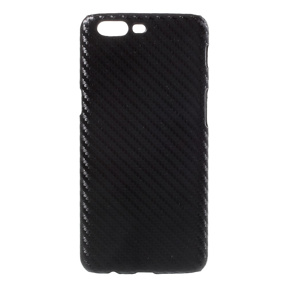 OnePlus 5 InCover Plastik Cover - Sort Carbon