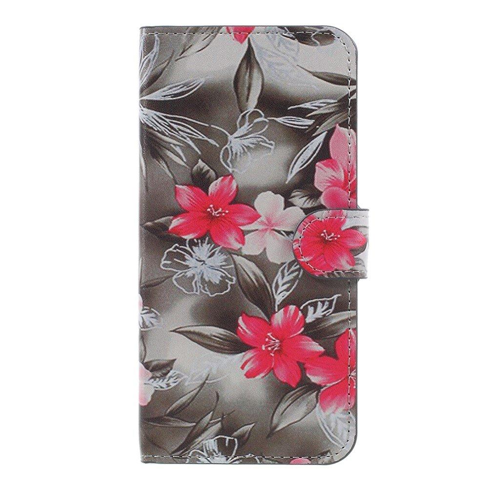 Image of   OnePlus 5 PU læder Flipcover m. Kortholder - Beautiful Flowers