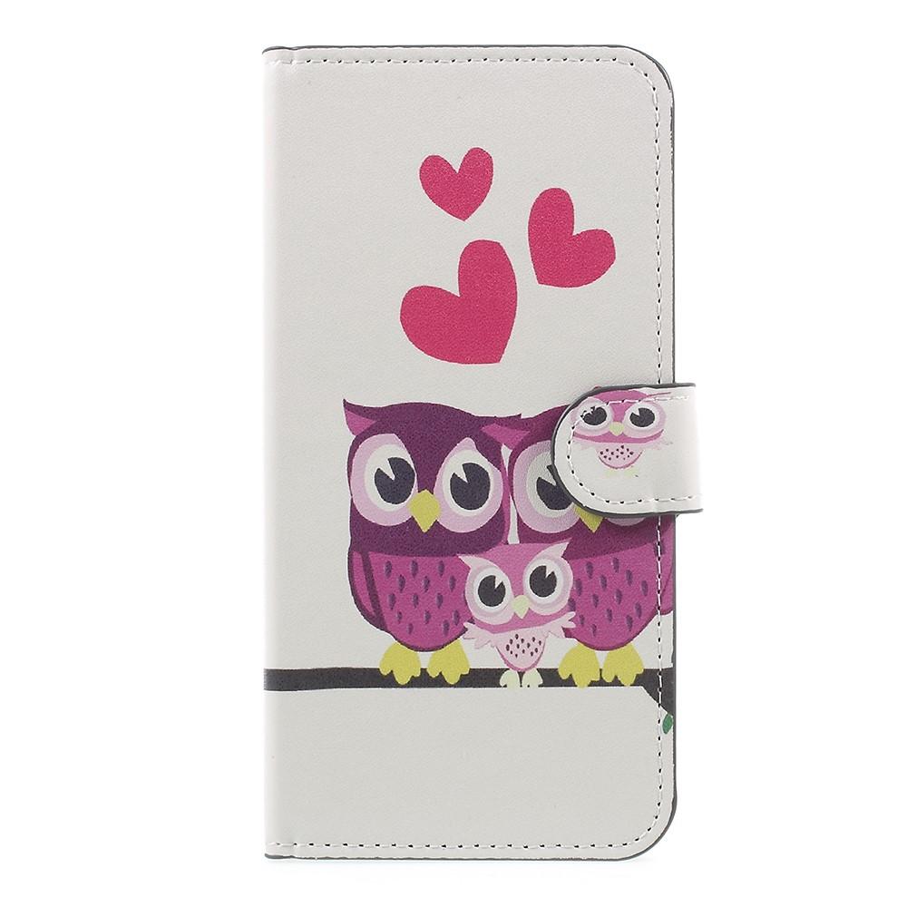 Billede af OnePlus 5 PU læder Flipcover m. Kortholder - Owl Family