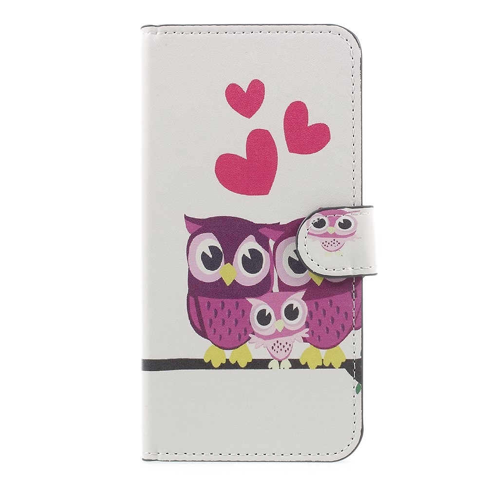 OnePlus 5 PU læder Flipcover m. Kortholder - Owl Family