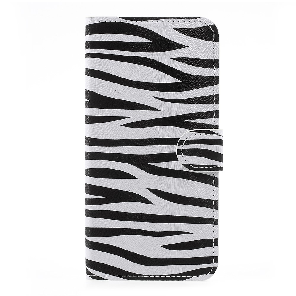 OnePlus 5 PU læder Flipcover m. Kortholder - Zebra
