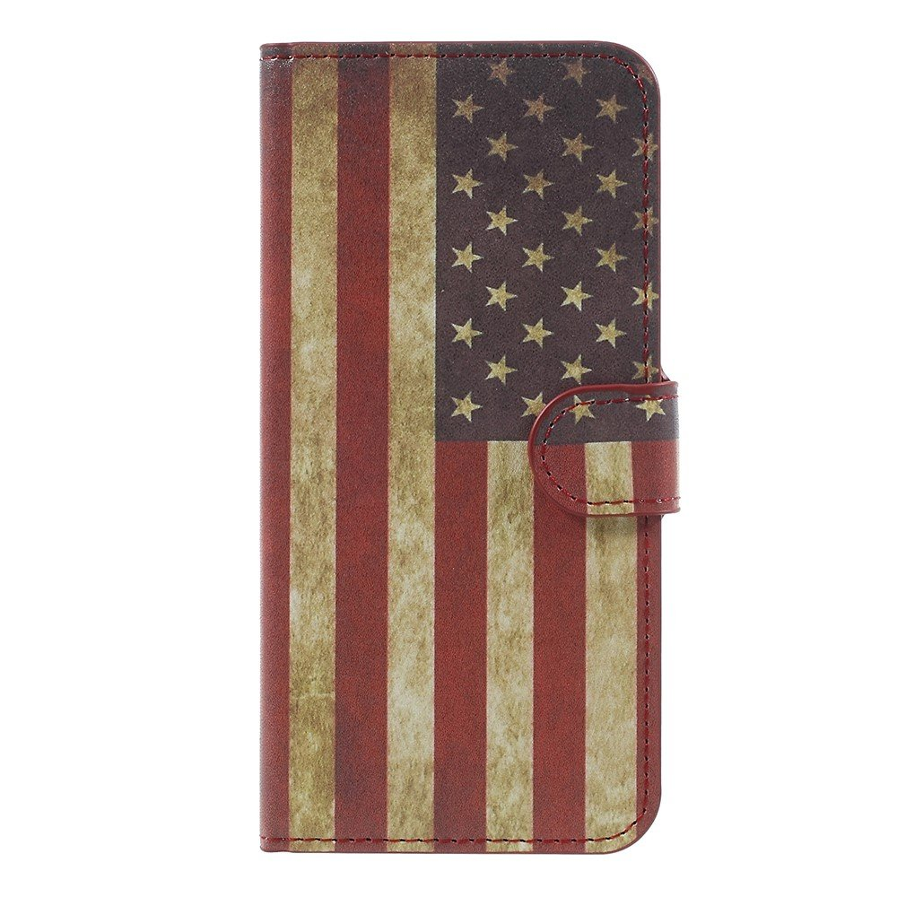 Billede af OnePlus 5 PU læder Flipcover m. Kortholder - US Flag