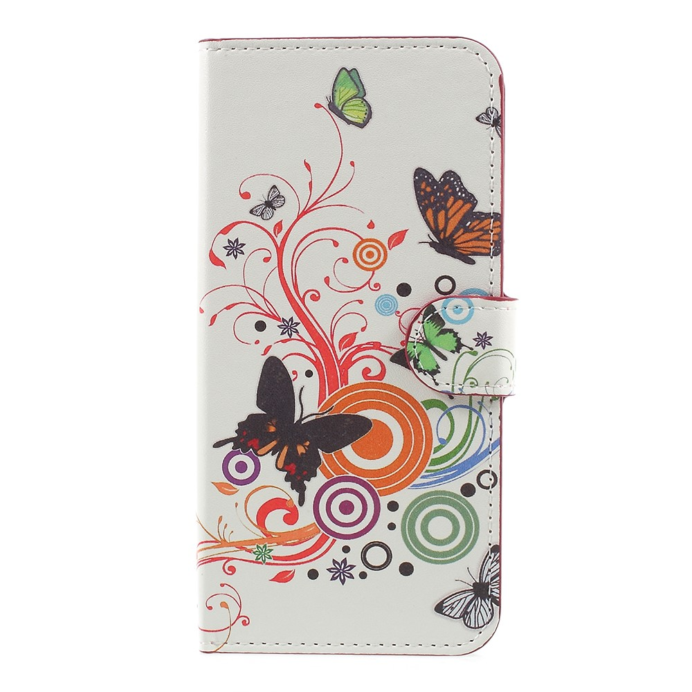 OnePlus 5 PU læder Flipcover m. Kortholder - Butterflies and Paisley