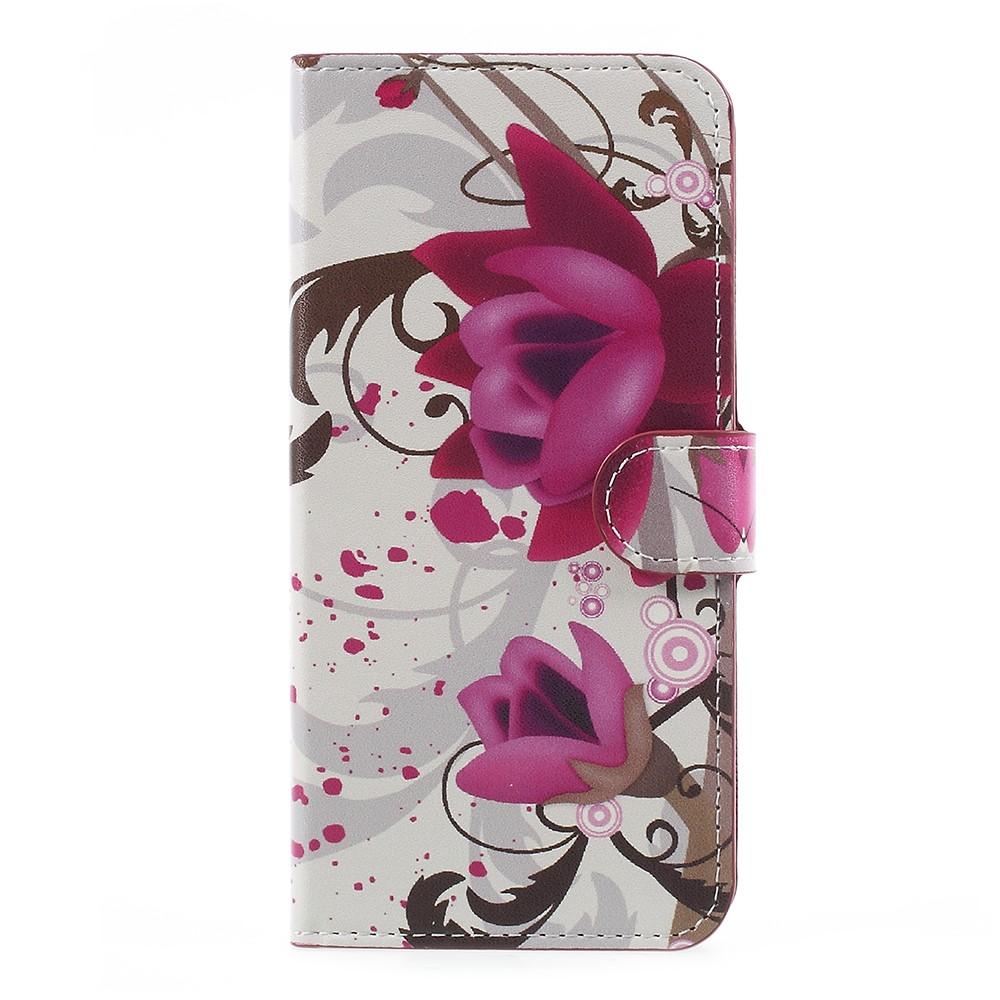 Image of   OnePlus 5 PU læder Flipcover m. Kortholder - Kapok Flowers