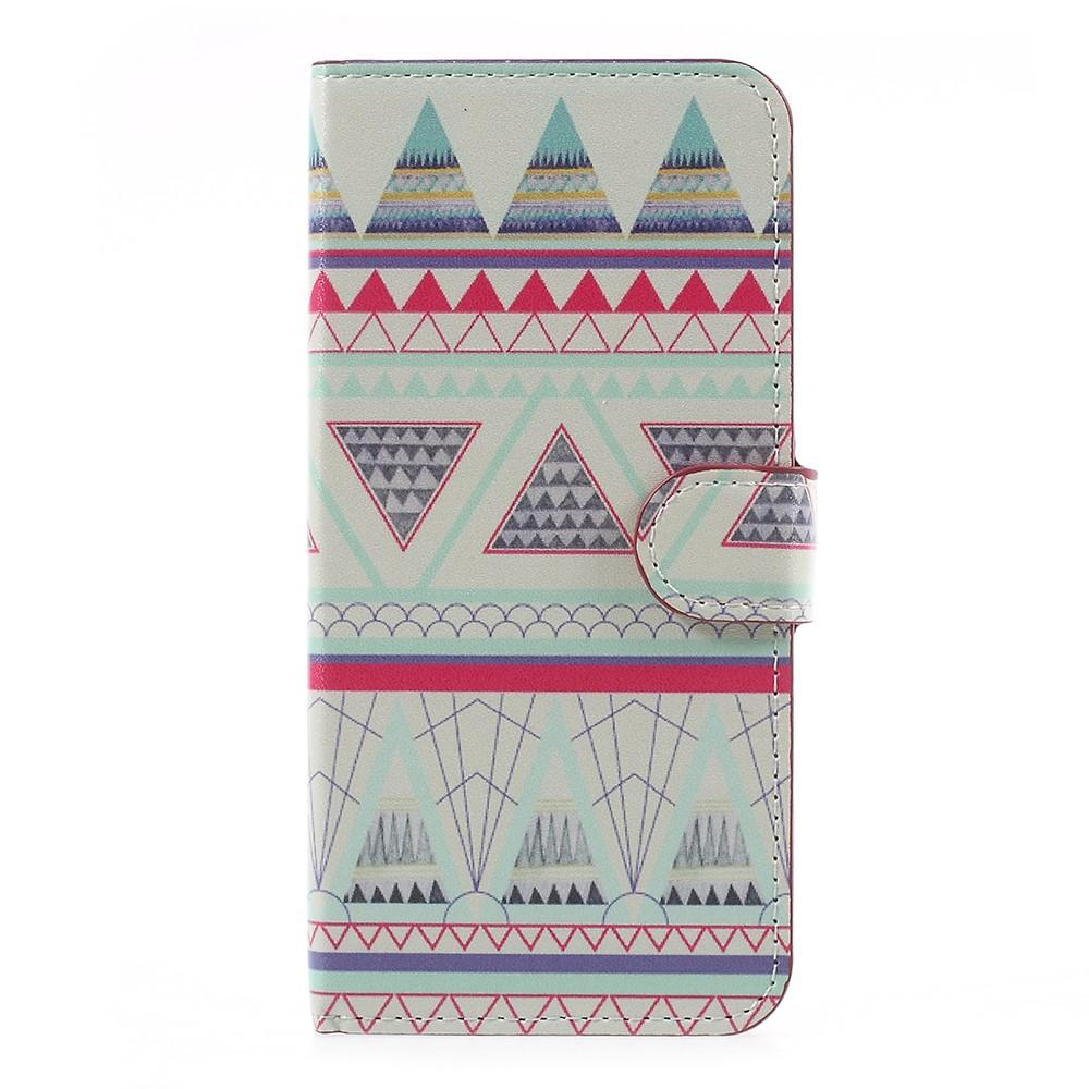 Billede af OnePlus 5 PU læder Flipcover m. Kortholder - Triangles