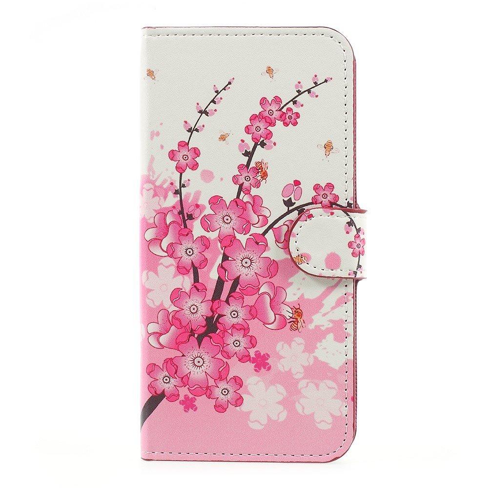 OnePlus 5 PU læder Flipcover m. Kortholder - Plum Flowers
