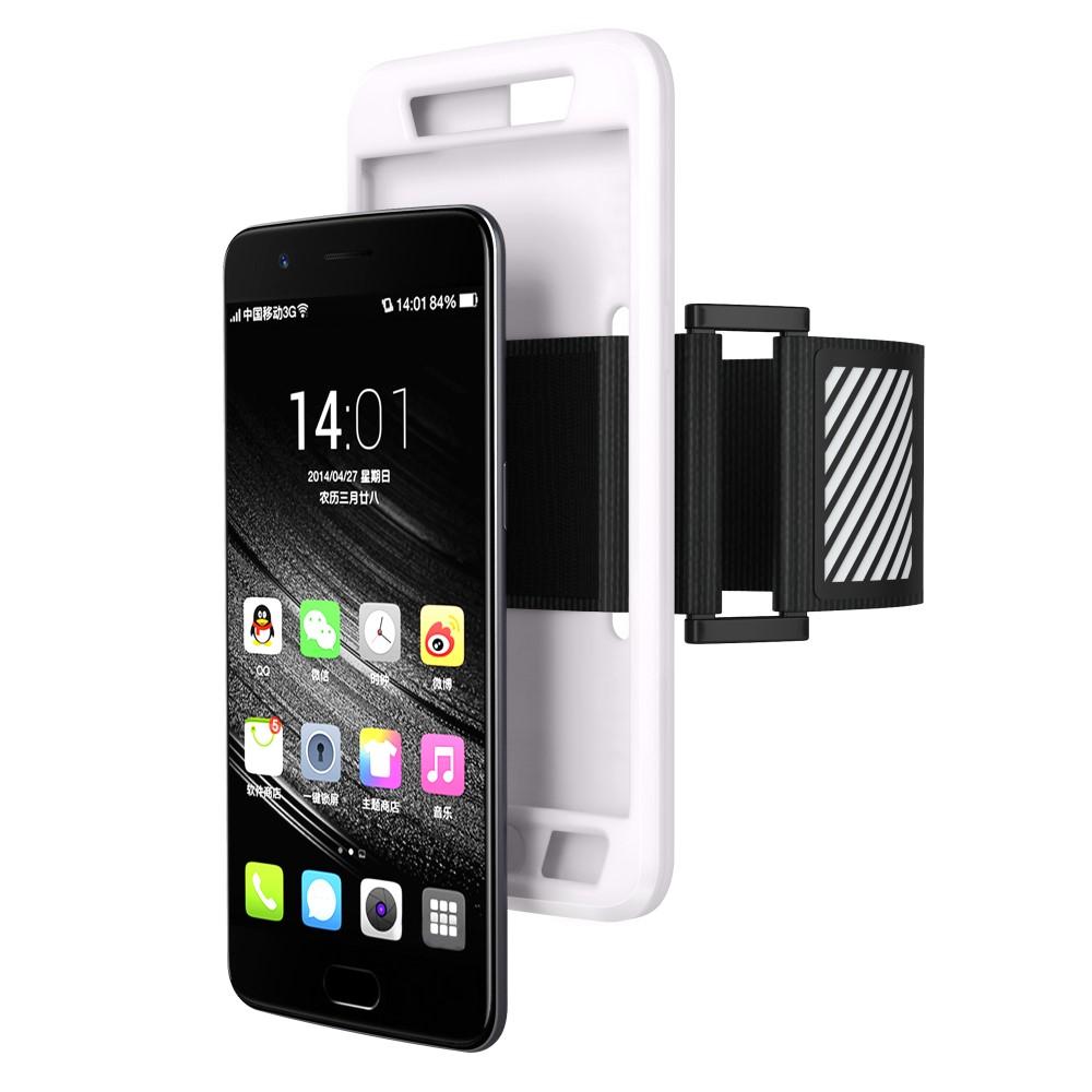 OnePlus 5 Silikone Sportsarmbånd m. Rem - Hvid