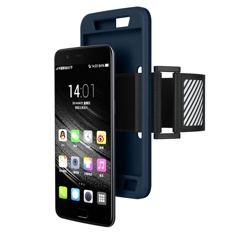 OnePlus 5 Silikone Sportsarmbånd m. Rem - Mørk blå