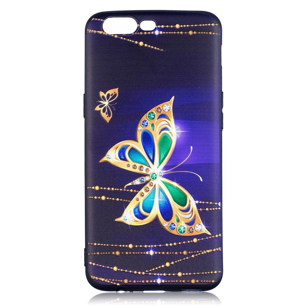 OnePlus 5 inCover TPU Cover - Gold Butterflies