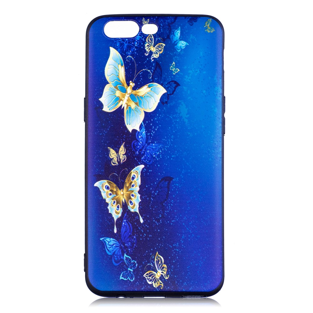 OnePlus 5 inCover TPU Cover - Blue Butterflies