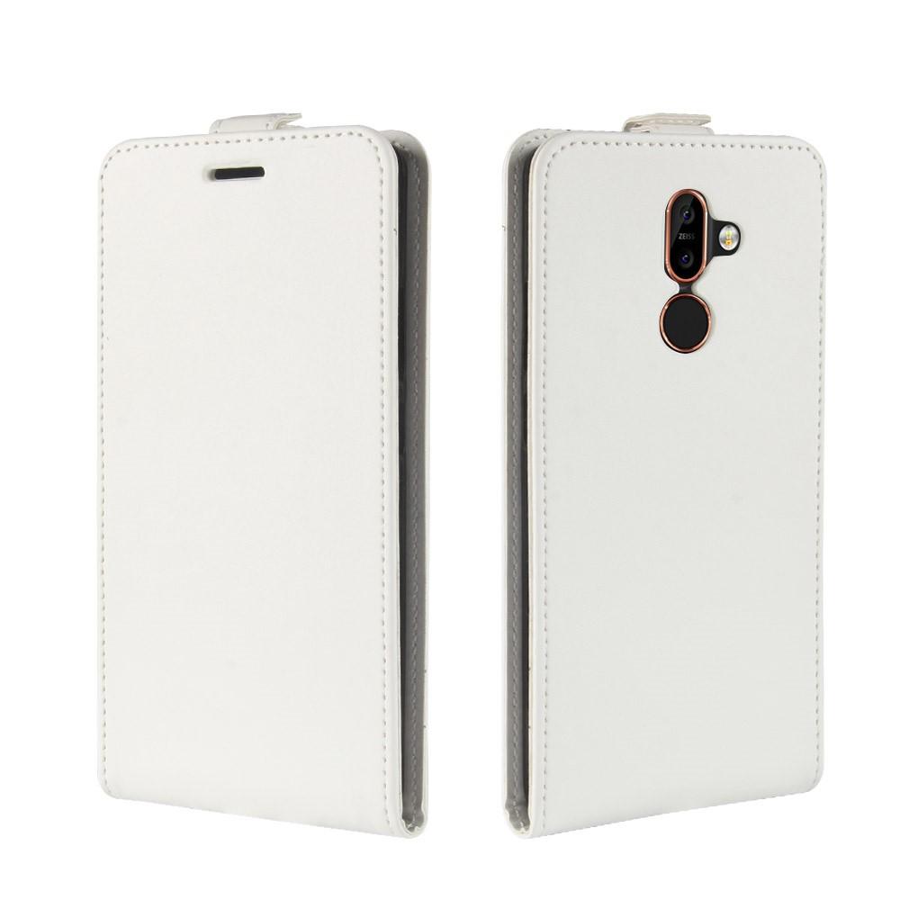 Image of Nokia 7 Plus inCover PU Læder Flip Cover m. Kortholder - Hvid