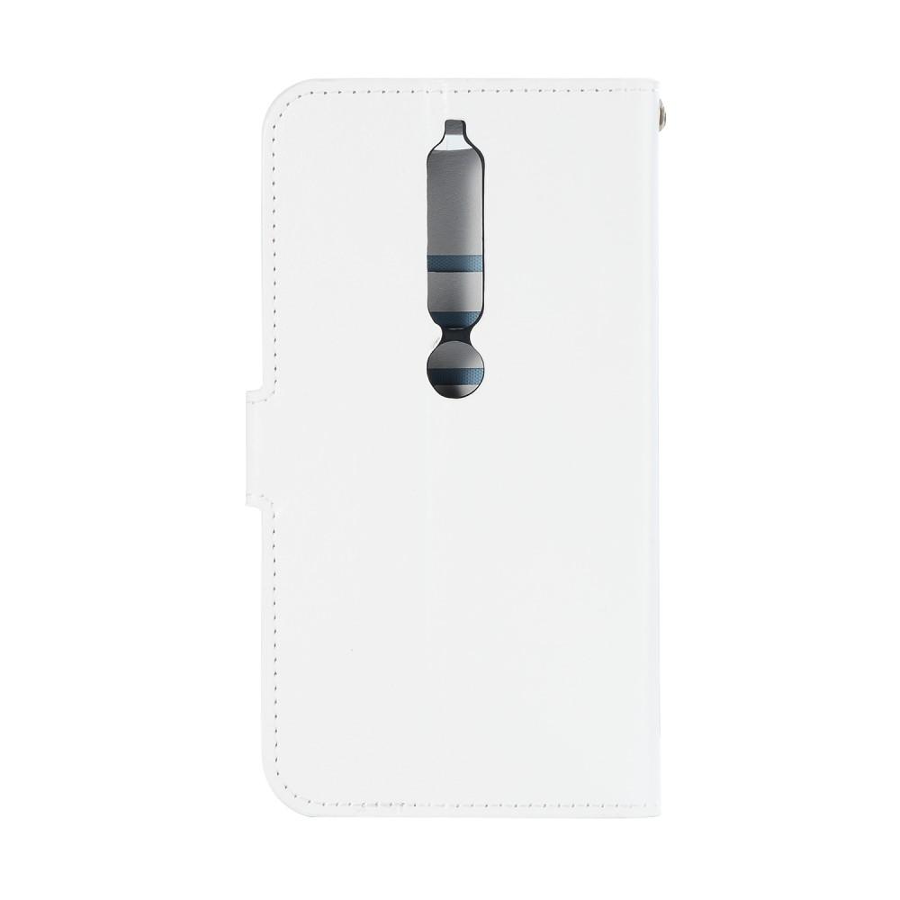 Image of Nokia 6 (2018) inCover PU Læder Flip Cover m. Stand og Kortholder - Hvid